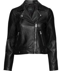 slfkatie leather jacket b noos läderjacka skinnjacka svart selected femme