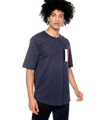 camiseta azul-blanco-rojo tommy hilfiger
