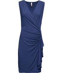 abito a portafoglio con volant (blu) - bodyflirt boutique