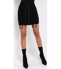 akira living lavish corseted bandage mini skirt