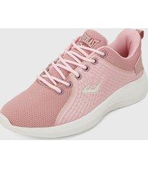 tenis lifestyle rosa nude-blanco everlast unizzo