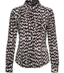 &co woman blouse lotte feather black coffee