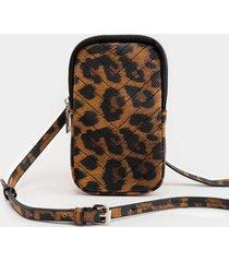 simone wallet cellphone holder - leopard