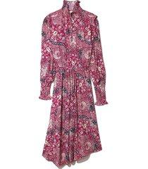 cescott dress in fuchsia