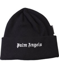 palm angels branded beanie hat
