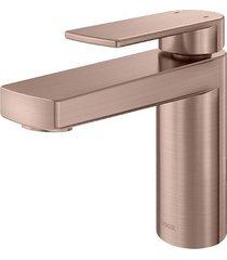 misturador monocomando para banheiro mesa bica baixa argon cobre escovado - 00847769 - docol - docol