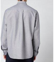 kenzo men's tiger crest oxford shirt - black - 42/17