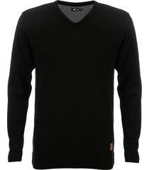 suéter seeder gola v liso preto - kanui