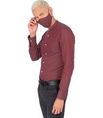 camisa  tapabocas colección antiviral hombre 00517