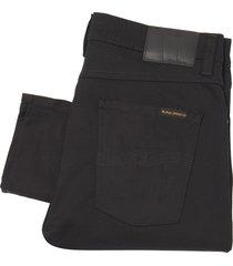 nudie jeans lean dean jeans - dry everblack 112498