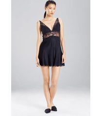 sleek lace chemise sleep pajamas & loungewear, women's, silk, size s, josie natori