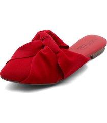 slipper rojo beira rio