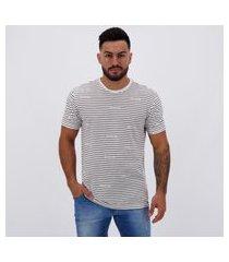 camiseta volcom especial knot is stripe branca