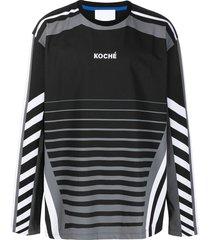 koché logo print long-sleeve t-shirt - black