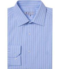 camisa dudalina manga longa fio tinto maquinetada listrado masculina (branco, 48)