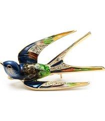 elegante swallow uccello spille pins gioielli colorati spilla smalto colorato strass etnici