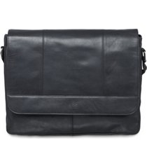 mancini buffalo collection laptop/ tablet messenger bag