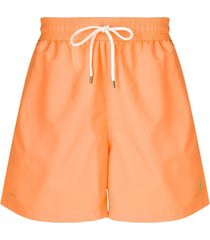 polo ralph lauren short de natação - laranja