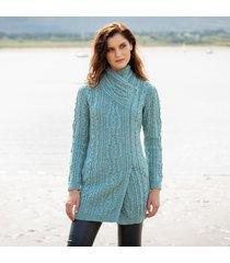 womens barra aqua aran coat small