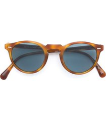 oliver peoples 'gregory peck' sunglasses - brown