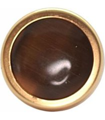 anillo piedra baño en oro café bijulovers