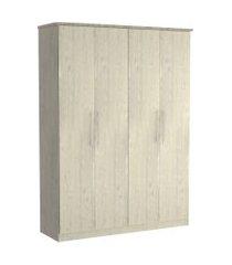 guarda roupa 04 portas 974 marfim areia m foscarini off-white
