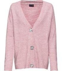 cardigan oversize con bottoni decorati (rosa) - bodyflirt