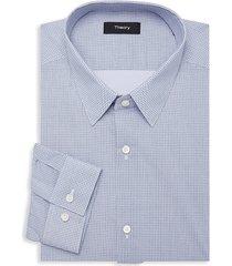 theory men's cedrick-printed dress shirt - eclipse - size 16.5 l