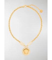 versace medusa head crystal-embellished necklace