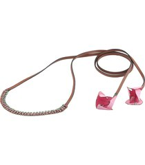 marni leather necklace with flowers