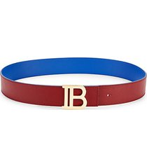 logo reversible leather belt