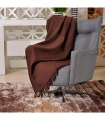 manta capa sofa algodão favo 1,20m x 1,50m marrom - tessi