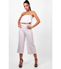 bandeau top & culottes co-ord set, ivory