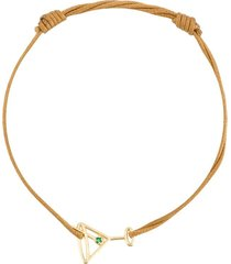 aliita 9kt gold cocktail cord bracelet - neutrals