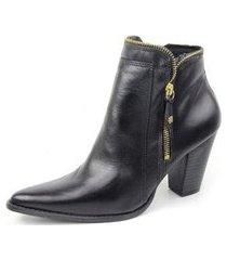 ankle boot couro sapatofran perlatto feminina