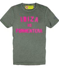 ibiza vs formentera melange green mans t-shirt