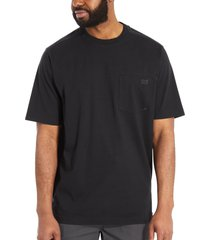 wolverine men's guardian cotton pocket tee black, size s