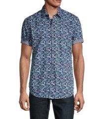 robert graham men's aspen classic-fit print shirt - size m