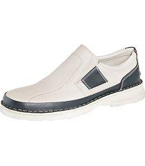 skor utan snörning roger kent beige::mörkblå