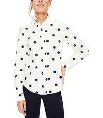 women's boden modern classic print shirt