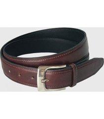 cinturón clásico de cuero café tinto trauko