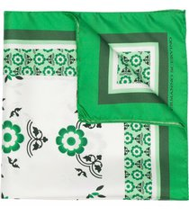 ermanno scervino silk scarf with patchwork print