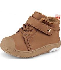 zapato con piel de peluche prewalker marrón bibi