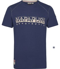 sishop t-shirts short-sleeved blå napapijri