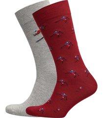 o1. 2-pack apres ski gift box underwear socks regular socks röd gant