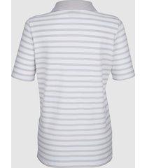 pikétopp dress in ljusgrå::vit