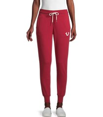 true religion women's logo tapered joggers - southbay shore - size xl