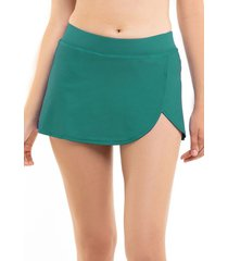 bikini short falda verde samia