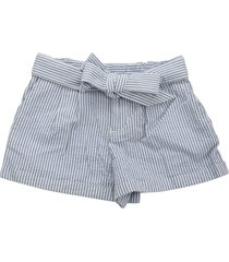 ralph lauren belted cotton seersucker short