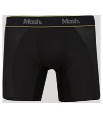 cueca masculina mash boxer longa esportiva preta